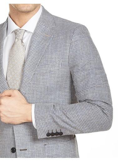Bisse PCK20Y20128 Regular Fit 6 Drop Platinum Blazer Ceket Mavi